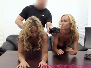 2 Busty Girlfriends Walk In To An Office…