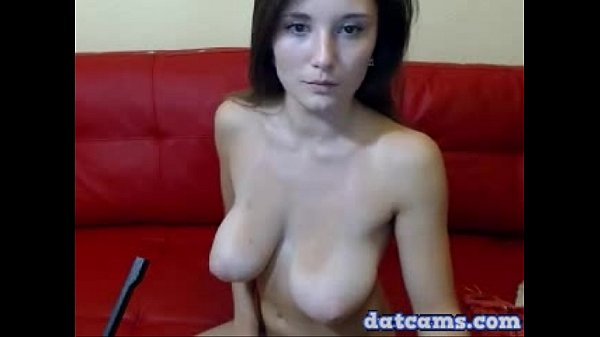 busty babe solo masturbation and sucking her big fat dildo live on cam datcams.com