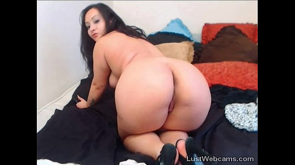 Chubby brunette teasing on webcam