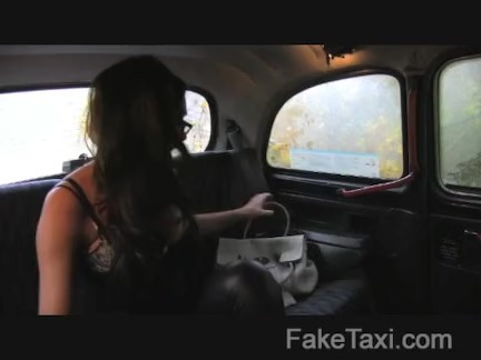FakeTaxi – Busty tits and blowjob lips