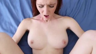 ShesNew Amateur Ginger with Natural firm 32DD tits and bigass rides bigcock