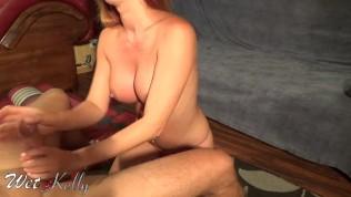 Slutty wife sucking my cock and swallow cum