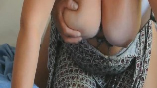 Wife fucked doggy with her big tits bouncing