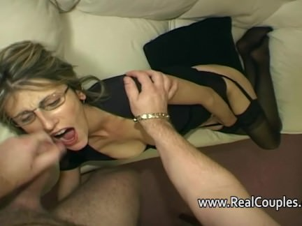Wife moans loudly while fucked in ass
