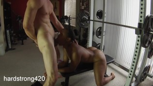 workout turns into hot fucking with sexy ebony milf | preview